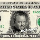 ARCHIE BUNKER on REAL Dollar Bill collectible Cash Money - All In The Family