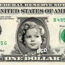 SHIRLEY TEMPLE on REAL Dollar Bill - Celebrity Collectible Custom Cash