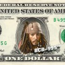 Disney's Captain Jack Sparrow (Pirates of the Caribbean) on REAL Dollar Bill