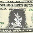 Disney's Thumper Bunny (Bambi) - Dollar Bill - REAL Money!