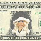 Disney's Ms. Piggy (The Muppets) {Color} Dollar Bill - REAL Money!