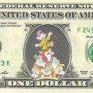 7 DWARFS on REAL Dollar Bill - Celebrity Cash - Money Art Gift