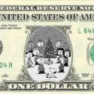 A CHARLIE BROWN CHRISTMAS on REAL Dollar Bill - Celebrity Cash - Money Art Gift