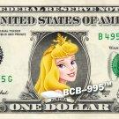 Disney's Aurora ( Sleeping Beauty ) on REAL Dollar Bill - Collectible Cash Money