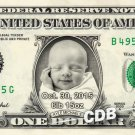 NEW BABY Custom REAL Dollar Bills - Personalized Money w/ ur Picture & Name! Currency Cash Bank Note