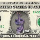 RANDALL BOGGS Monsters Inc On Real Dollar Bill - Cash Money Bank Note Currency