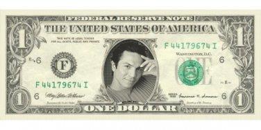 BENJAMIN BRATT - Actor - on REAL Dollar Bill - Cash Money Bank Note Currency