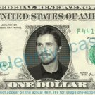 CHRISTIAN BALE on REAL Dollar Bill - Cash Money Bank Note Currency Dinero