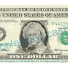 HEATH LEDGER on REAL Dollar Bill Cash Money Bank Note Currency Dinero Celebrity