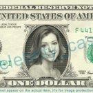 ALYSON HANNIGAN on REAL Dollar Bill - Cash Money Bank Note Currency Dinero