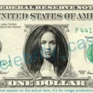MEGAN FOX on REAL Dollar Bill Cash Money Bank Note Currency Dinero Celebrity