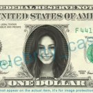 VANESSA HUDGENS on REAL Dollar Bill Cash Money Bank Note Currency Dinero Celebrity
