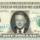 BILL CLINTON President on REAL Dollar Bill Cash Money Bank Note Currency Dinero