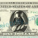 DARTH VADER Star Wars on REAL Dollar Bill Cash Money Bank Note Currency Dinero