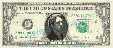 ALEX O'LOUGHLIN Mick St John Moonlight On Real Dollar Bill Cash Money Bank Note