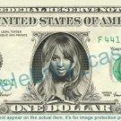 CIARA Princess Harris on REAL Dollar Bill Cash Money Bank Note Currency Dinero