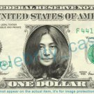 YOKO ONO on REAL Dollar Bill Cash Money Bank Note Currency Dinero Celebrity