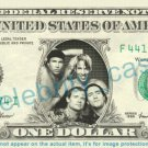 RED HOT CHILI PEPPERS on REAL Dollar Bill Cash Money Bank Note Currency Dinero