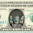 NIRVANA on REAL Dollar Bill Cash Money Bank Note Currency Dinero Celebrity