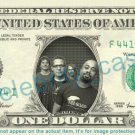 HOOTIE & THE BLOWFISH on REAL Dollar Bill Cash Money Bank Note Currency Dinero