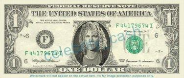 DAVID BRYAN Bon Jovi on REAL Dollar Bill Cash Money Bank Note Currency Dinero Celebrity