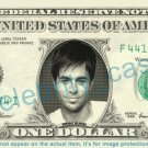 ENRIQUE IGLESIAS on REAL Dollar Bill Cash Money Bank Note Currency Dinero