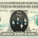 PINK FLOYD on REAL Dollar Bill Cash Money Bank Note Currency Dinero Celebrity