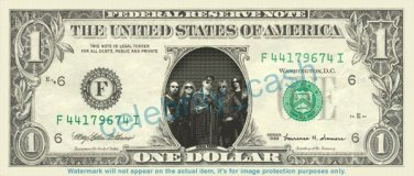 JUDAS PRIEST on REAL Dollar Bill Cash Money Bank Note Currency Dinero Celebrity