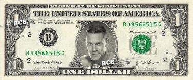 JOHN CENA Wrestler WWE on REAL Dollar Bill Cash Money Bank Note Currency Dinero