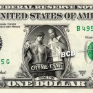 CRYME TYME Wrestler WWE on REAL Dollar Bill Cash Money Bank Note Currency Dinero