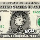 PIG PEN Charlie Brown on REAL Dollar Bill Cash Money Bank Note Currency Dinero