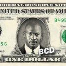 MICHAEL JORDAN on REAL Dollar Bill Cash Money Bank Note Currency Dinero Air