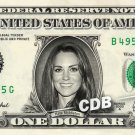 KATE MIDDLETON on REAL Dollar Bill Cash Money Bank Note Currency Celebrity