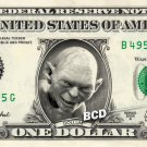 Spiegel GOLLUM on a REAL Dollar Bill Lord of the Rings Cash Money Collectible