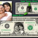 Personalized WEDDING / ANNIVERSARY GIFT Your Face & Name REAL DOLLAR Cash Money