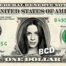 ALANIS MORISSETTE on REAL Dollar Bill - Celebrity Cash - Money Art Gift