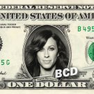 ALANIS MORISSETTE on REAL Dollar Bill Cash Money Bank Note Currency Dinero $