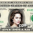 ANGELINA JOLIE on REAL Dollar Bill Cash Money Memorabilia Collectible Celebrity