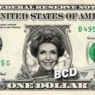 NANCY REAGAN on REAL Dollar Bill Cash Money Memorabilia Collectible Celebrity