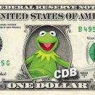 KERMIT THE FROG on REAL Dollar Bill Disney Cash Money Memorabilia Collectible