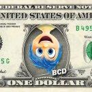 JOY - Inside Out on REAL Dollar Bill Disney Cash Money Memorabilia Collectible