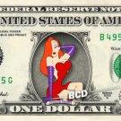 JESSICA RABBIT Who framed Roger Rabbit on a REAL Dollar Bill Disney Cash Money