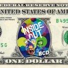 INSIDE OUT the Movie on REAL Dollar Bill Disney Cash Money Memorabilia Mint $$$