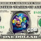 INSIDE OUT the Movie on REAL Dollar Bill Disney Cash Money Memorabilia Mint $$
