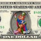 HONEST JOHN & GIDEON Pinocchio on REAL Dollar Bill Disney Cash Money Memorabilia