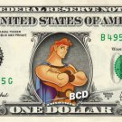 HERCULES on REAL Dollar Bill Disney Cash Money Memorabilia Collectible Mint