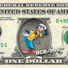 GOOFY on REAL Dollar Bill Disney Cash Money Memorabilia Collectible Mint Bank