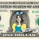 DRIZELLA TREMAINE Cinderella on REAL Dollar Bill Disney Cash Money Memorabilia