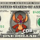 EVILE - Lilo & Stitch on REAL Dollar Bill Disney Cash Money Memorabilia Mint