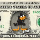 DAFFY DUCK on REAL Dollar Bill Disney Cash Money Memorabilia Collectible Mint